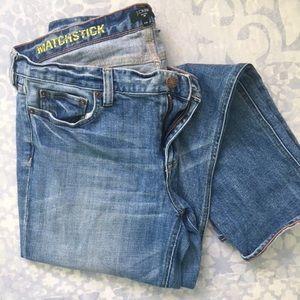 Jcrew match stick jeans
